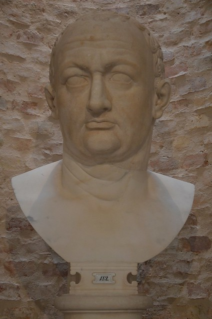 Colossal bust of the emperor Vespasian, 69-79 AD, from Rome, Neues Museum, Berlin