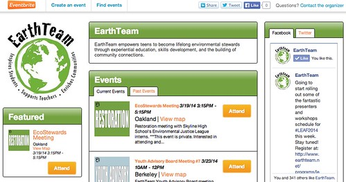 EarthTeam Eventbrite