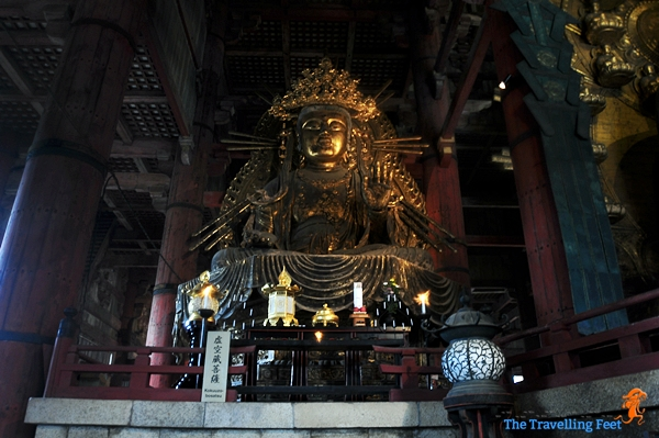 a smaller version of the Buddha