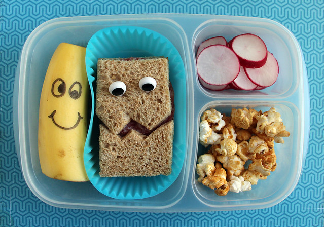 4th Grade Silly Faces Bento #898