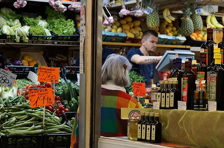 Bologna Italy Market