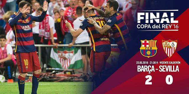 Copa del Rey (Final): FC Barcelona 2 - Sevilla FC 0