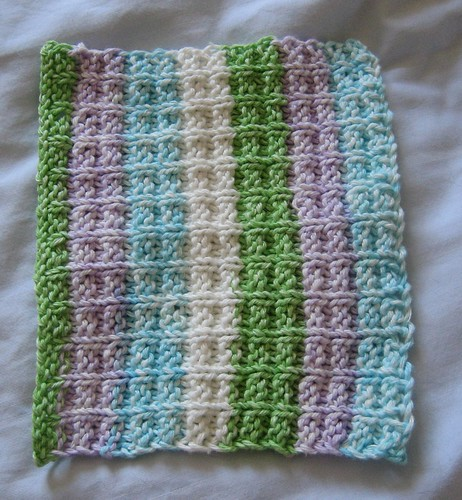 dishcloth squarestripe