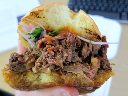 Amazing beef brisket bun
