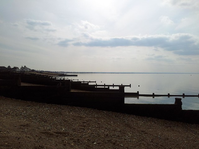 Groyne view up the Swale
