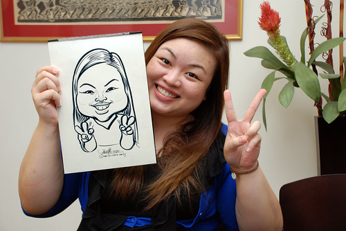 Caricature live sketching for Marks & Clerk Singapore LLP Christmas Party - 12