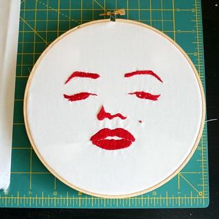 Marilyn redwork