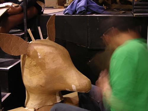 MayDay 2012 deer head work