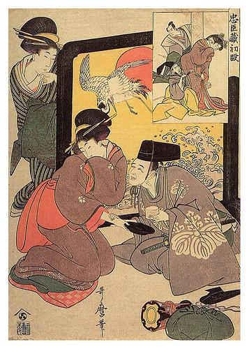 019-De la serie Chushingura clases inferiores- Ley del juego Kabuki- 1801–1802- Kitagawa Utamaro- Zeino.Org Meine Bibliothek