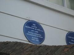 Photo of James Jeans blue plaque