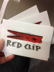 "the new ""red clip"" stand  in"