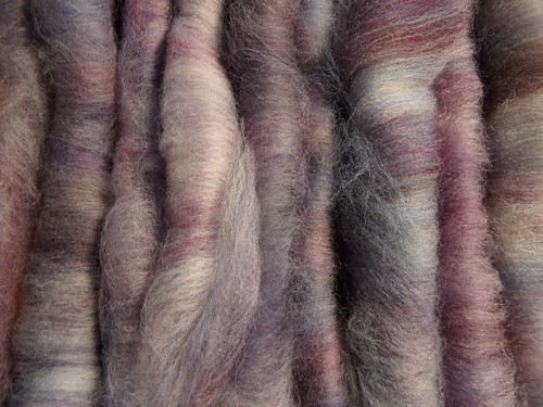 FCKFiber Club Famous Couples Spring 2012-March-Sid & Nancy (this is Sid)-1.2oz-Polwarth-hand carded rolags