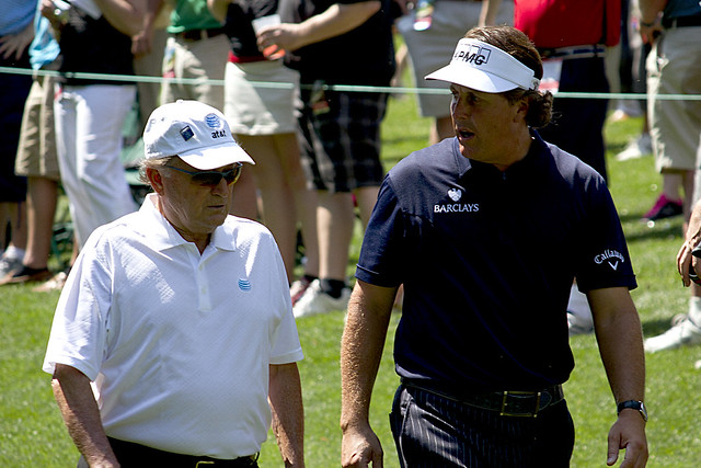 augusta raymond floyd and phil mickelson