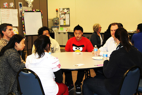 Hmong students meet their NRCS mentors for the first time.