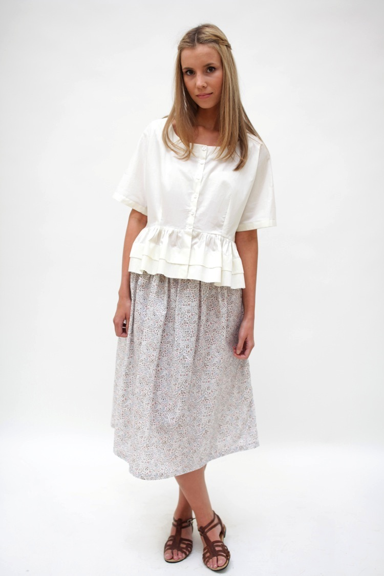 Teresa blouse, Hetty skirt