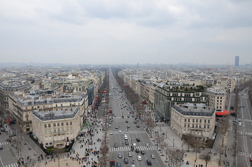 View, Arc de Triomphe