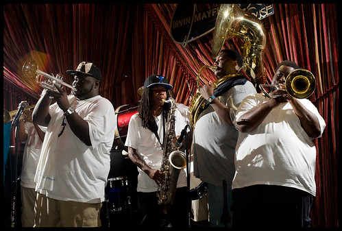 Hot 8 Brass Band at French Quarter Fest 2012. Photo by Ryan Hodgson-Rigsbee