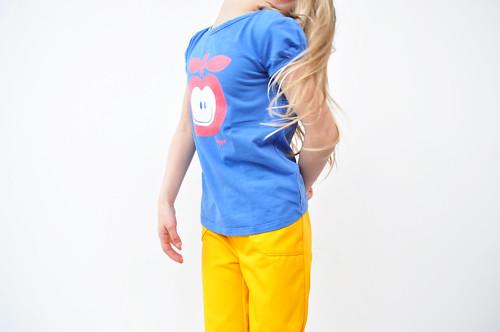 geel blauw en haar