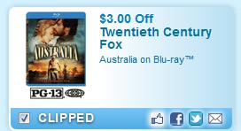 $3.00 Off Australia On Blu-ray  Coupon