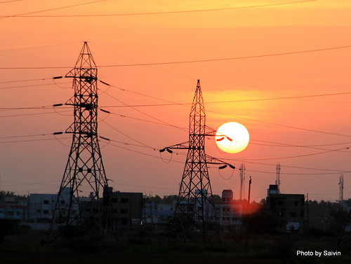 sunset silhouette landscape chennai