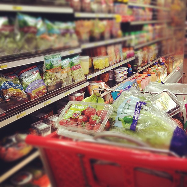 Grocery shopping alone. Yay!