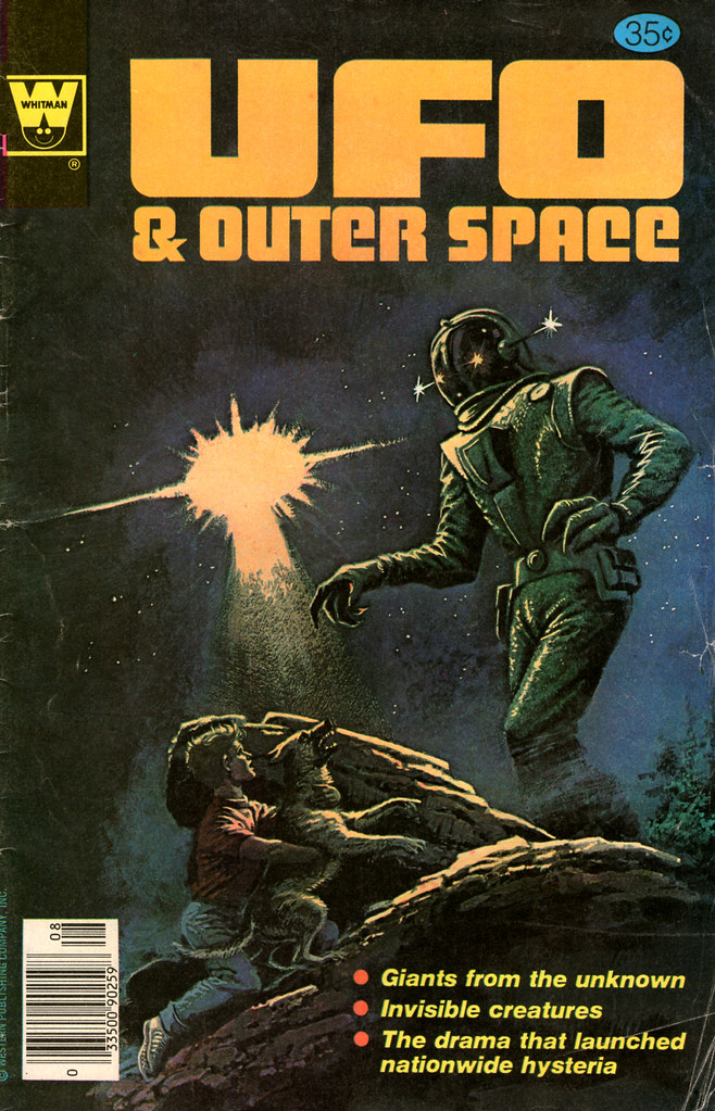 UFO and Outer Space #16, Cover By Art Saaf (Gold Key, 1978)