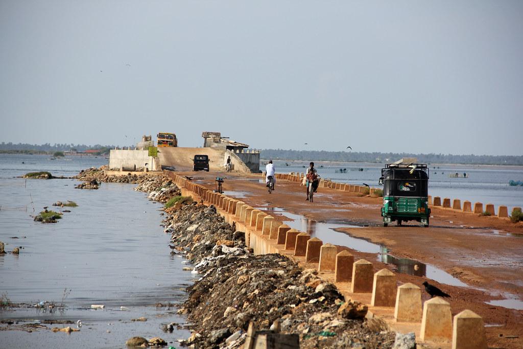 Causeway near Jaffna, Sri Lanka