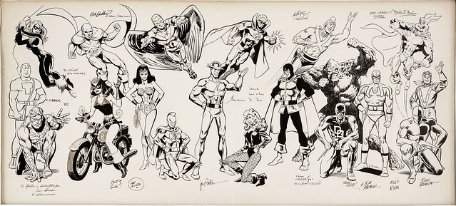 C. C. Beck, Rich Buckler, Steve Ditko, Lee Elias, Carmine Infantino, Fred Kida, Frank Miller, Jim Mooney, Irv Novick, John Romita Sr., Joe Staton, Bernie Wrightson and Others Original Art (c. 1979-82)