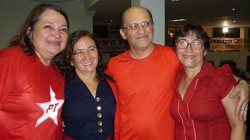 Maria do Carmo Lima, Lucineide Pinheiro, Carlos Martins e Socorro Pena