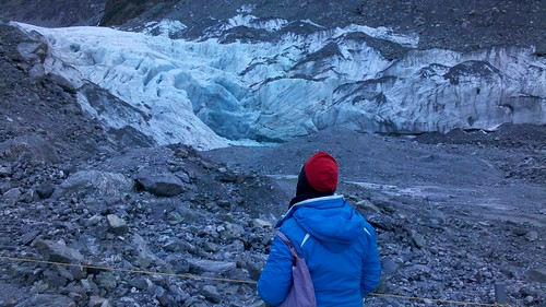 Fox Glacier terminal moraine. by Bazzaphotos
