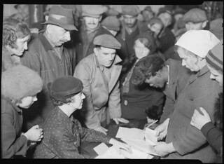 Scott's Run, West Virginia. A group of men and women, March 1937