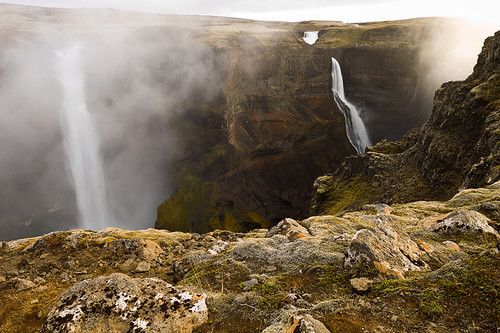 nature sunrise landscape geotagged island waterfall iceland natuur landschap isl waterval suðurland ijsland haifoss tungufell geo:lat=6420488700 geo:lon=1968295700