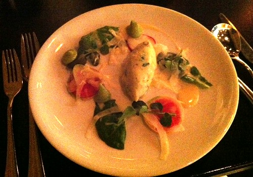 Quarter Twenty One - Salt Snapper Brandade with Avocado Puree, Fennel and Raddish