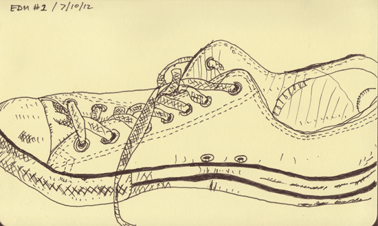Sketch of a shoe (Everyday Matters #1)