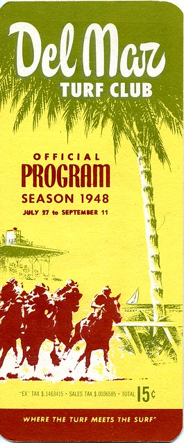Del Mar Turf Club official program 1948 season