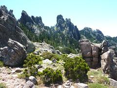 Bocca di Fumicosa : Punta Samulaghja et le couloir du col N que nous devons atteindre