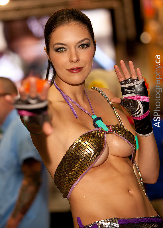 The stunning Adrianne Curry as Christie Monteiro of Tekken at SDCC 2012