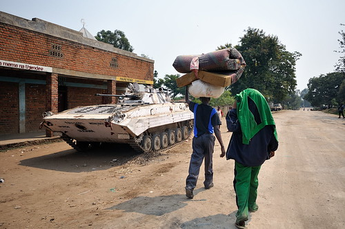 IDPs leaving Rutshuru
