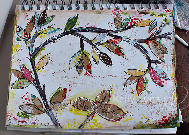 7-23-12 Art Journal-Growing