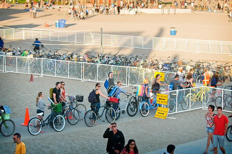 Bike valet at Santa Monica Pier