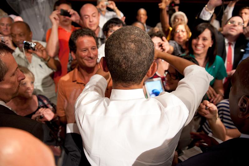 President Obama in Century Village in West Palm Beach