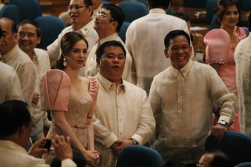Rep. Lucy Torres Gomez Filipiniana dress/ Terno @ SONA2012