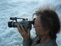 Wolfgang Dworsky filmt am Rheinfall