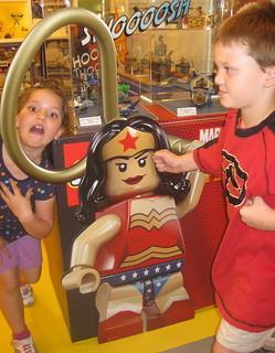 Lego Store posing