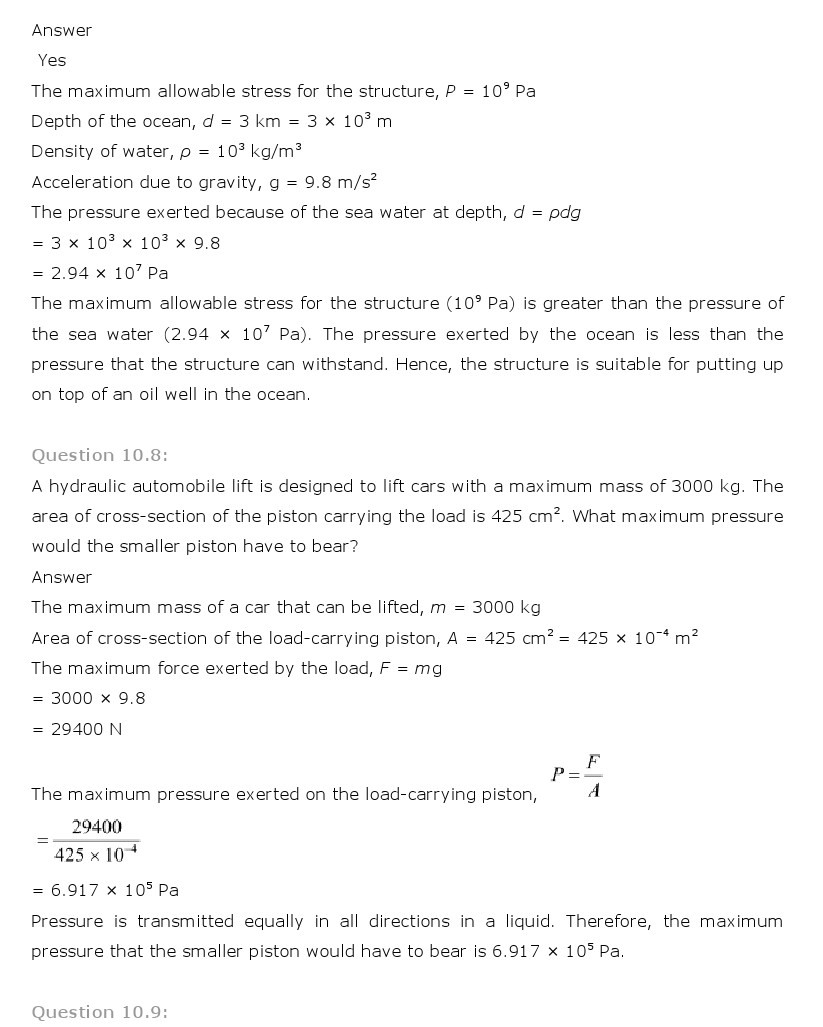 mechanical properties of fluids Download cbse important questions for cbse class 11 physics mechanical properties of fluids in pdf format these cbse important questions are arranged subject-wise.