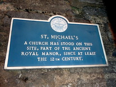 Photo of St. Michael's blue plaque