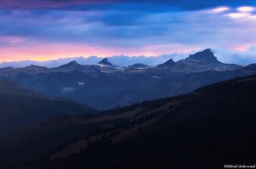sunset mountains clouds twilight rainy lakecity sanjuanmountains windypoint uncompahgrepeak wetterhornpeak matterhornpeak hinsdalecounty