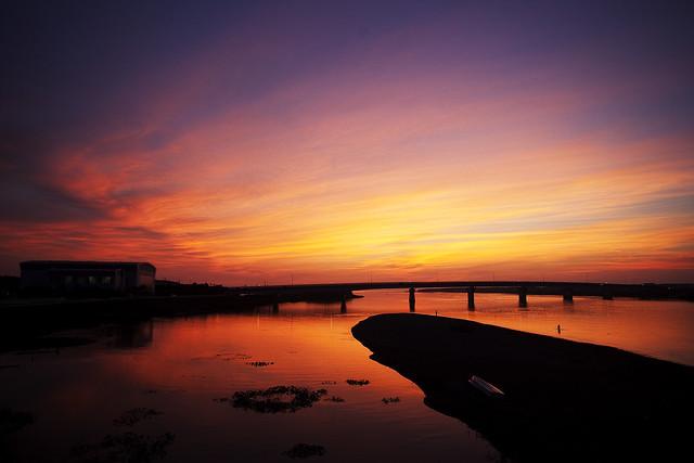 0804 夕景ー茜色の空ー
