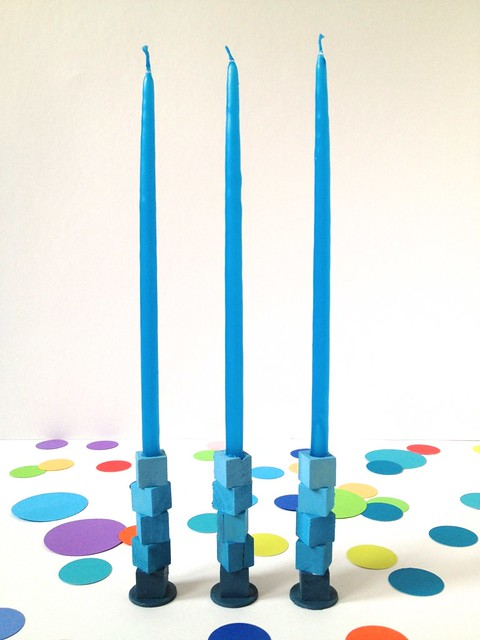 DIY Ombre Mini-Taper Candle Holders