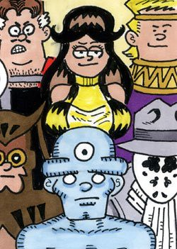 a watchmen sketchcard by fred hembeck by worldofagwu